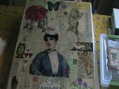 Altered art canvas, collage, journal. artwork,scrapbooking