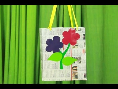 Art and craft videos - How to make News Paper gift bag