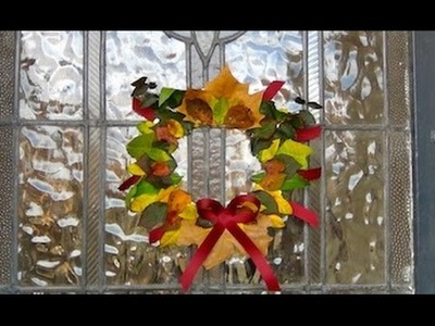 Autumn Crafts: How To Make An Autumn Leaf Wreath