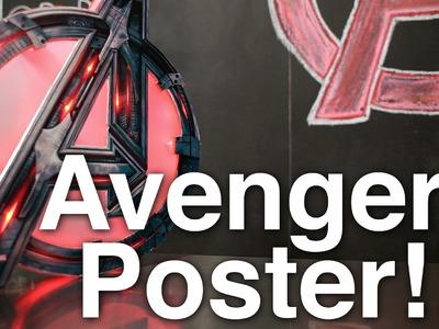 Avengers Light Up Poster!!