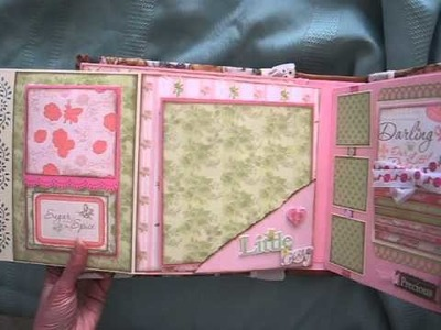 Baby Girl Scrapbook Mini Album (based on my interactive 8x8 album tutorial)