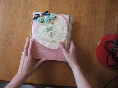 Beaded Scrapbook Mini Album Wedding Greeting Card Holder
