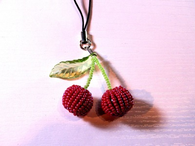 Beading Ideas - How to make Cherries - Covering up technique
