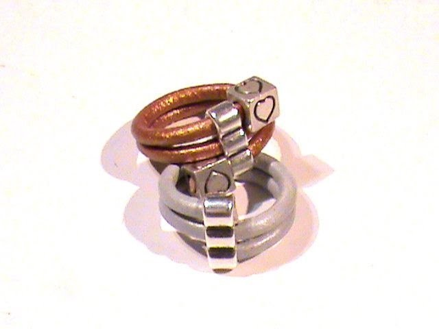 Beading Ideas - Leather ring using alloy spacer