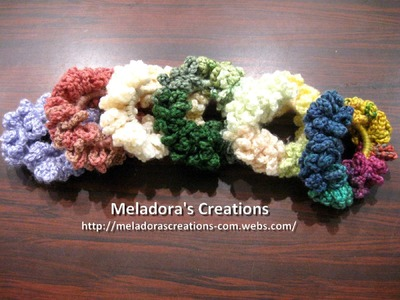 Chain Scrunchie - Left Handed Crochet Tutorial