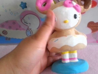 Craft Upate: Handmade Tokidoki Hello Kitty Donutella Figurine & Package from TattooedCookie!