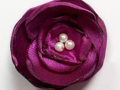 Create Pretty Satin Flower Brooch Pin - DIY Style - Guidecentral