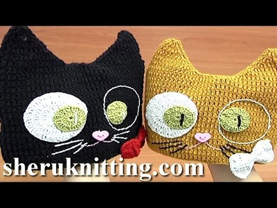 Crochet Kitty Hat Tutorial 6 Part 1 of 2