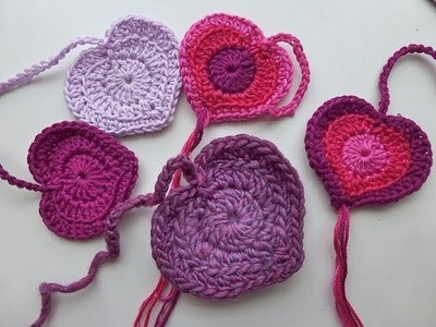 "Crochet with eliZZZa * Crochet Heart ""Valentina"" * Valentine's Day Crochet Heart"