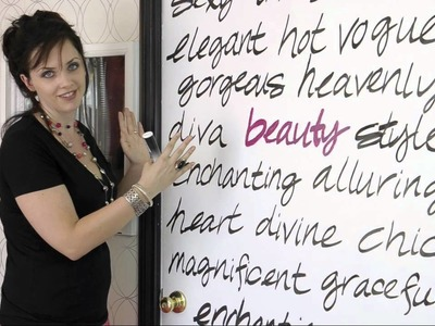 Decorative Handwriting on Your Doors and Walls DIY