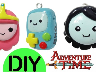 DIY Adventure Time | Princess Bubblegum + Little Marceline + BMO | Kawaii Polymer Clay Charms