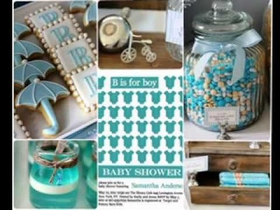 DIY boy baby shower invitation decorating ideas
