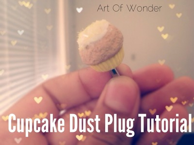 DIY Cupcake Dust Plug | Polymer Clay Tutorial | Glow in the Dark Icing