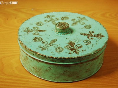 DIY Decorate Cookie Tin for storage | Home Décor