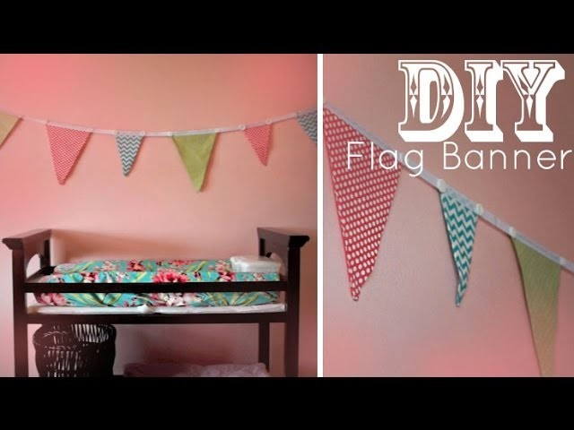 DIY Flag Banner - Pennants - Bunting (NO SEW)