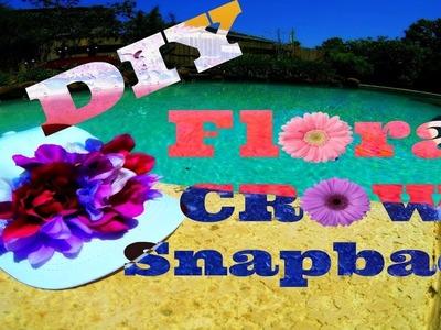 DIY Floral Snapback Hat! | Forever 21 Inspired