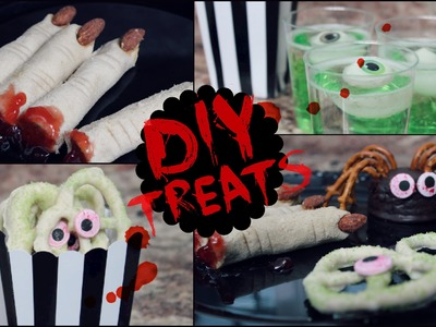 DIY Halloween Snack Ideas! (No Cook, Quick & Easy)