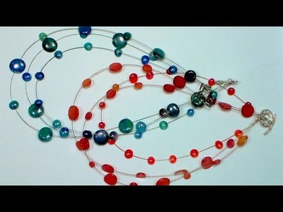 DIY Hot Glue Multistrand Necklace