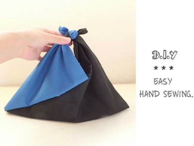 *DIY* How to make Stylish Bag from your Scarf.**by hand-sewing.