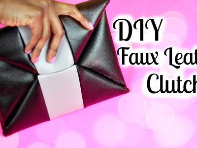 "DIY ""Leather"" Envelope Clutch | Tashalala"