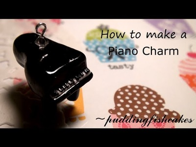 DIY Piano Polymer Clay Charm Tutorial