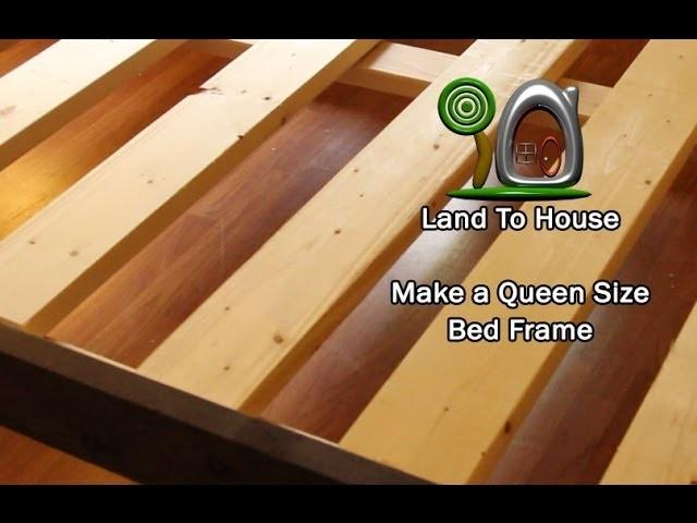 DIY Queen Size Bed Frame