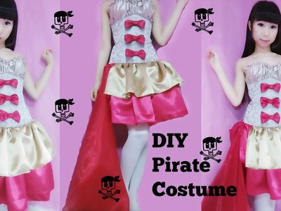 DIY- Restyle your corset to a fancy pirate costume (easy+cute+sexy)
