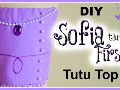 DIY Sofia the First Tutu Top