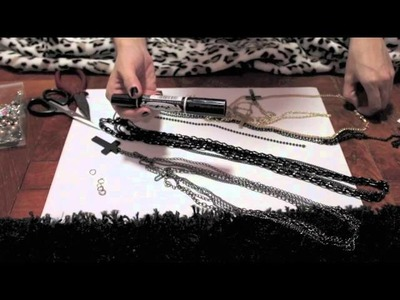 DIY Tutorial: Multi-Chain Cross Necklace