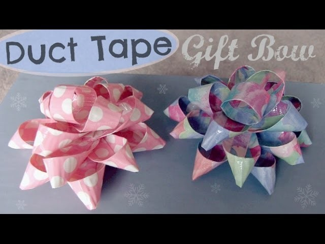 Duct Tape Gift Bow - How To - Holiday DIY