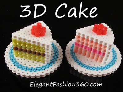 Hama.Perler Beads Cake 3D - How to Tutorial by Elegant Fashion 360