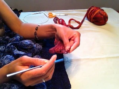 How To Attach Ruffles To A Skirt Using Sashay Yarn - Knitting & crochet Instruction