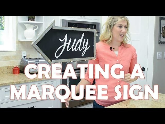 How to Create a DIY Marquee Sign from a Chalkboard