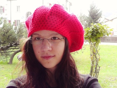 How to crochet a beret beanie for left handed Schachenmayr Bravo Mezzo