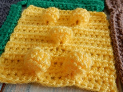 How to Crochet Bobbles for a Wheat Field  - CAL Ep4 Part 1 Road Play Mat