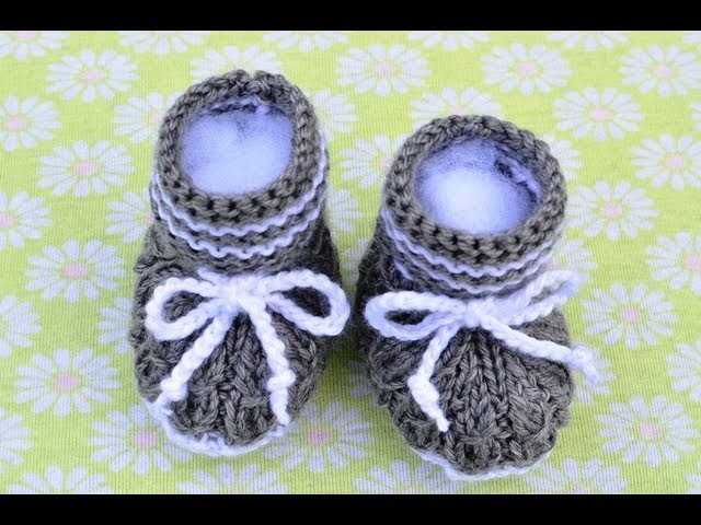 How to Knit Mock Cables Boot Style Baby Booties Part 2