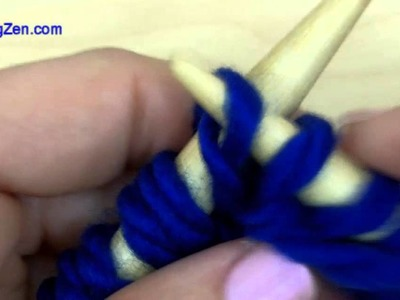 How to knit -  the cute Purl Stitch [knitting tutorial for beginners]