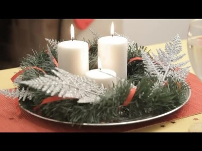 How to make a Christmas table centrepiece : Christmas crafts for the whole family