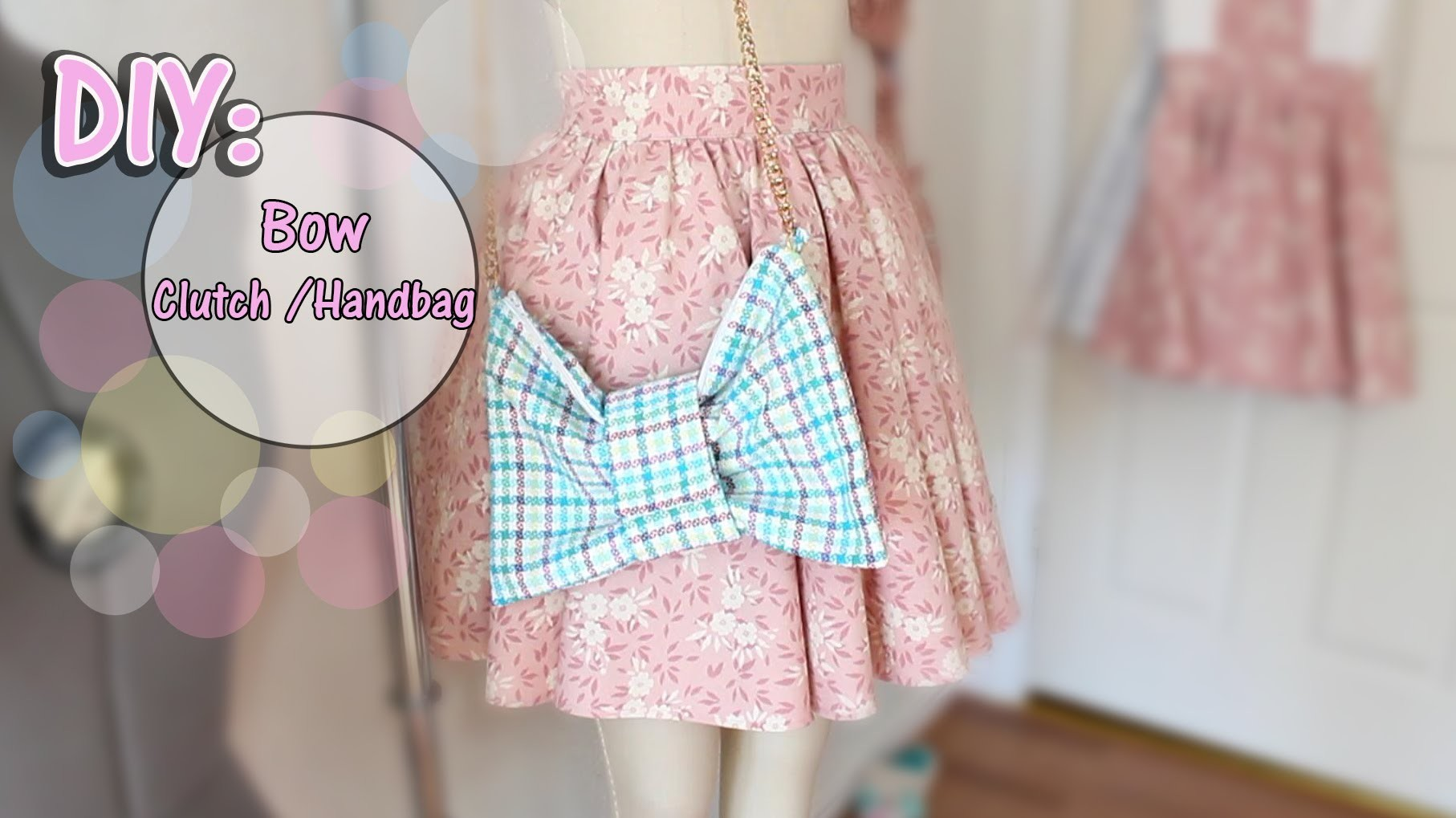 ✂How To Make Bow Clutch.HandBag ♡Beginner.Intermediate