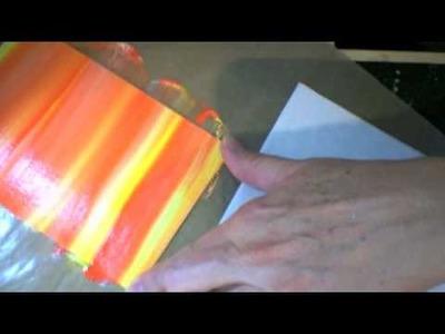 How-to: Stripe-n-scrape painting