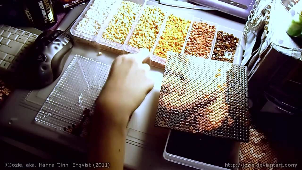 JINN.ART - Making a piece of Stargate fan art out of beads. Part 3.4
