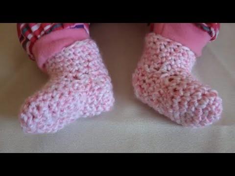 Learn to crochet preemie crochet baby booties slippers