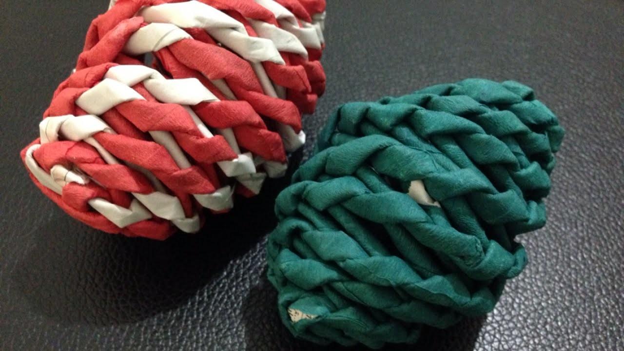 Make a Weaved Newspaper Easter Egg - DIY Crafts - Guidecentral
