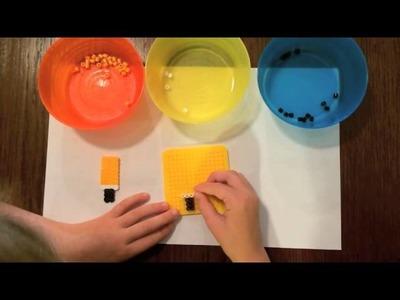 Orange Creamsicle Perler Beads Tutorial. How To