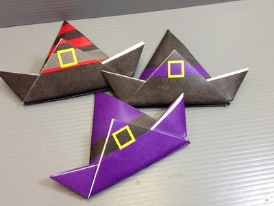 Origami Halloween Witch Hat - Print Your Own Paper!