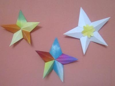 Paper Star. Origami Star. Christmas star