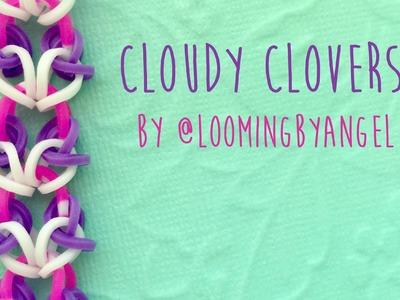 Rainbow Loom Bands Cloudy Clovers by @LoomingByAngel