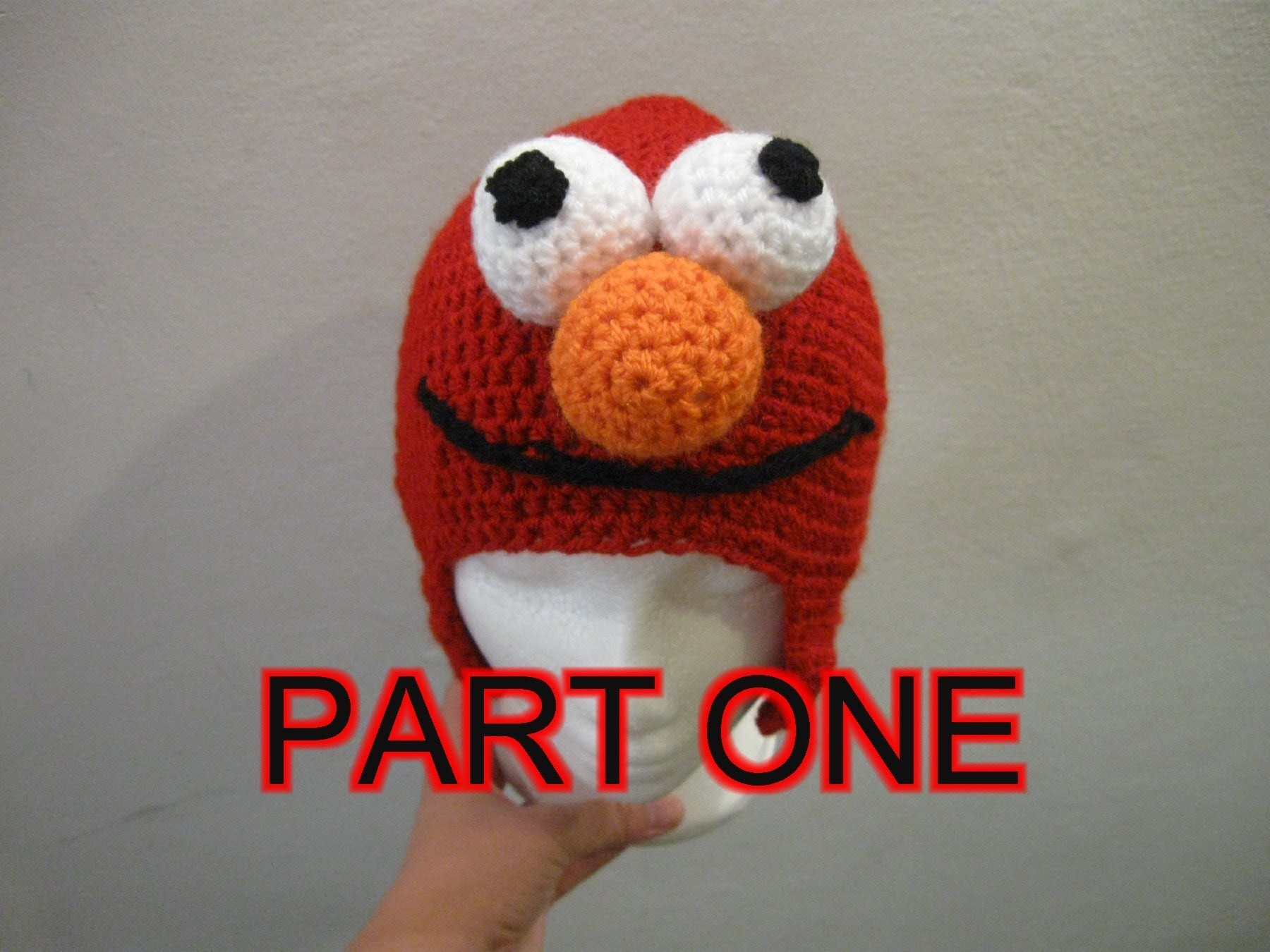 Red Mo Monster Crochet Beanie Tutorial pt 1