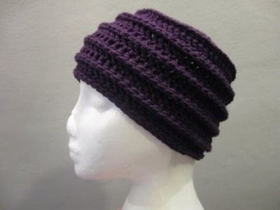 Riptide Beanie - Crochet Left Handed Tutorial