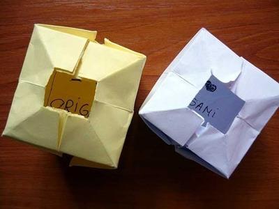 Secret Message Box Origami